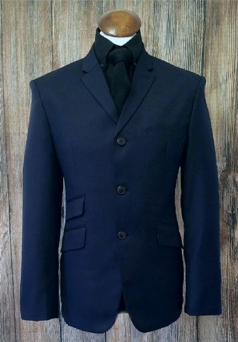 """Pete"" Navy Classic 3 Button Suit"